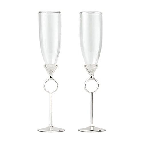 Сватбени чаши-Диамантен пръстен