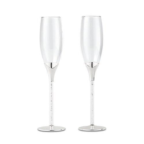 Сватбени чаши с кристали